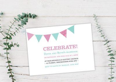 Celebrate wedding invite