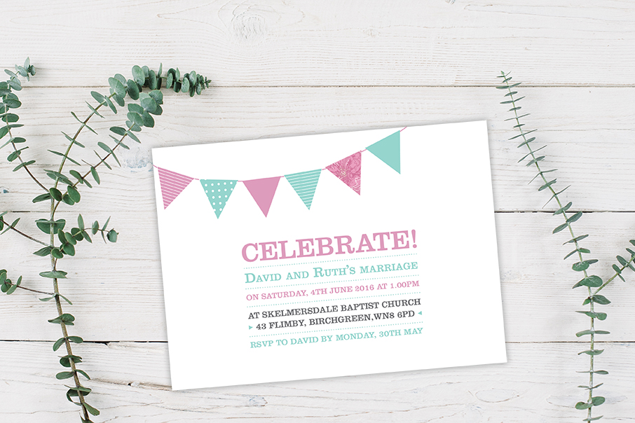 Celebrate wedding invite