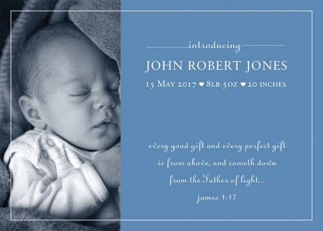 Baby Announcement cards - introducing baby boy