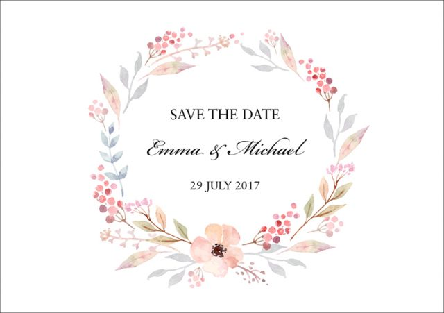 Wedding_Save_the_date_A6_landscape_floral_wreath